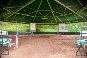 Trainingsfeld mit Pferden